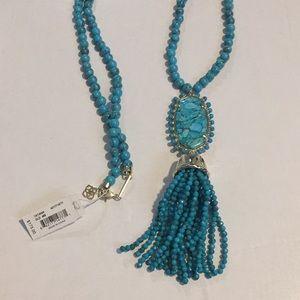 Kendra Scott Tatiana necklace bronze veined turq